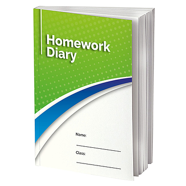 Homework Diary - Green (A5 - 104 Pages)
