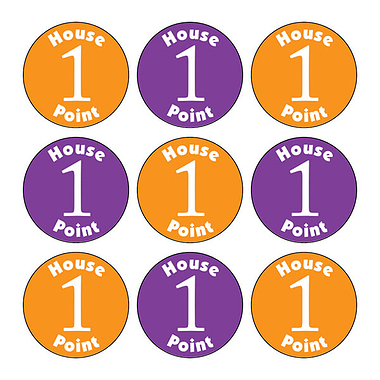 House Point Stickers (140 Stickers - 16mm)