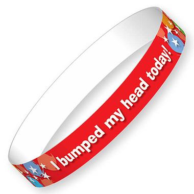 I bumped my head today Glossy Star Wristbands (40 Wristbands - 220mm x 13mm) Brainwaves