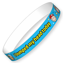 I Bumped My Head Today Wristbands (10 Wristbands - 220mm x 13mm) Brainwaves