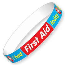 I had First Aid today today Wristbands (40 Wristbands - 220mm x 13mm)