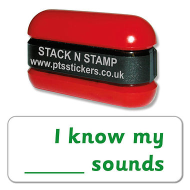 I Know My ___ Sounds Phonics Stack & Stamp - Green Ink