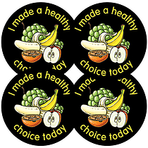 I Made a Healthy Choice Stickers - Fruit (35 Stickers - 37mm)