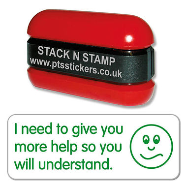 I Need to Give You More Help Stack & Stamp - Green Ink (38mm x 15mm)