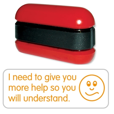 I Need to Give You More Help Stack & Stamp - Orange Ink (38mm x 15mm)
