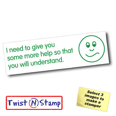 I Need to Give You More Help Twist & Stamp Stamper Brick (38mm x 15mm)