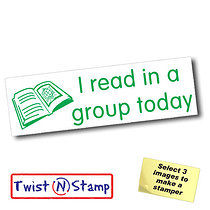 I Read in a Group Today Twist & Stamp Brick Stamper