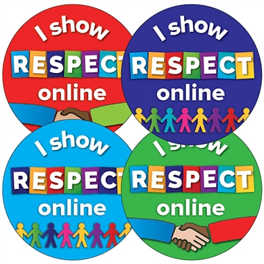 I Show RESPECT Online Stickers (35 Stickers - 37mm)