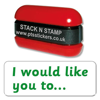 I Would Like You to' Stack & Stamp - Green Ink (38mm x 15mm)