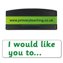 I Would Like You to Stakz Stamper - Green Ink (44mm x 13mm)