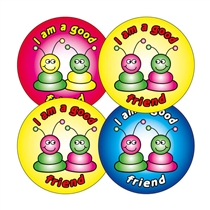 I'm a Good Friend Stickers - Alien (20 Stickers - 32mm)