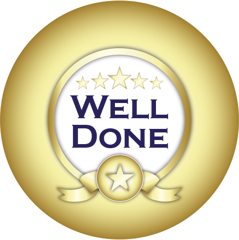 Customised Well Done Stickers | Gold | x 35 | 37mm | 472 x 473 png 206kB
