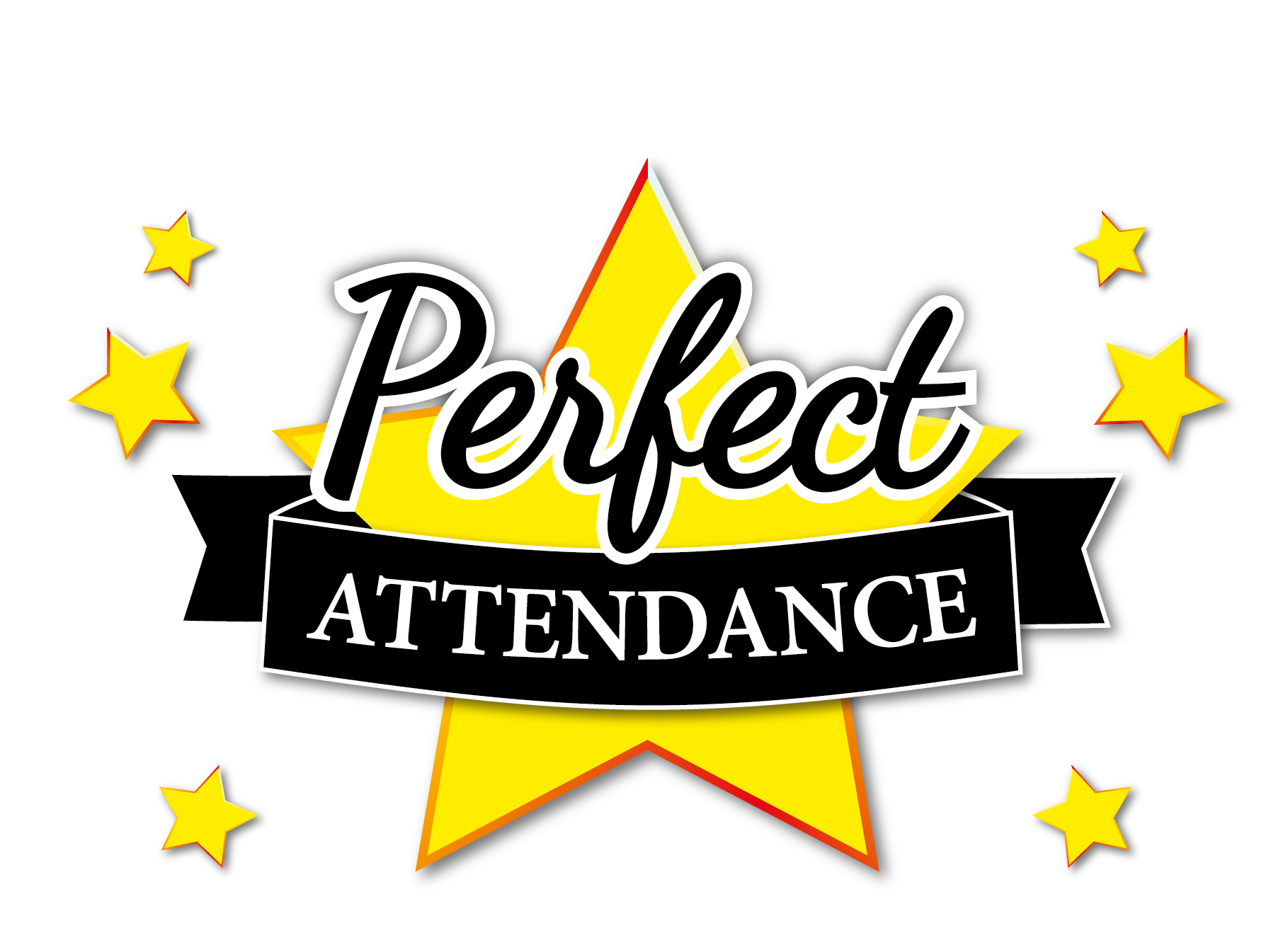 Personalised perfect attendance postcard a6