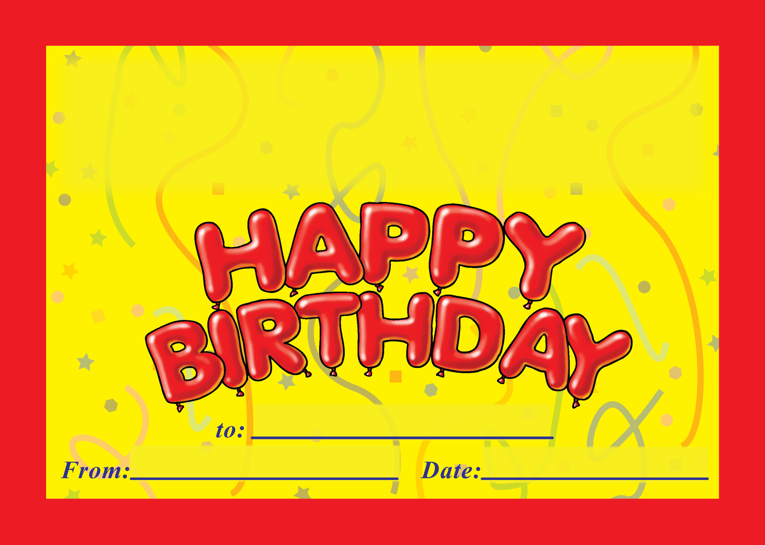 Customised Happy Birthday Certificate A5 Rewards