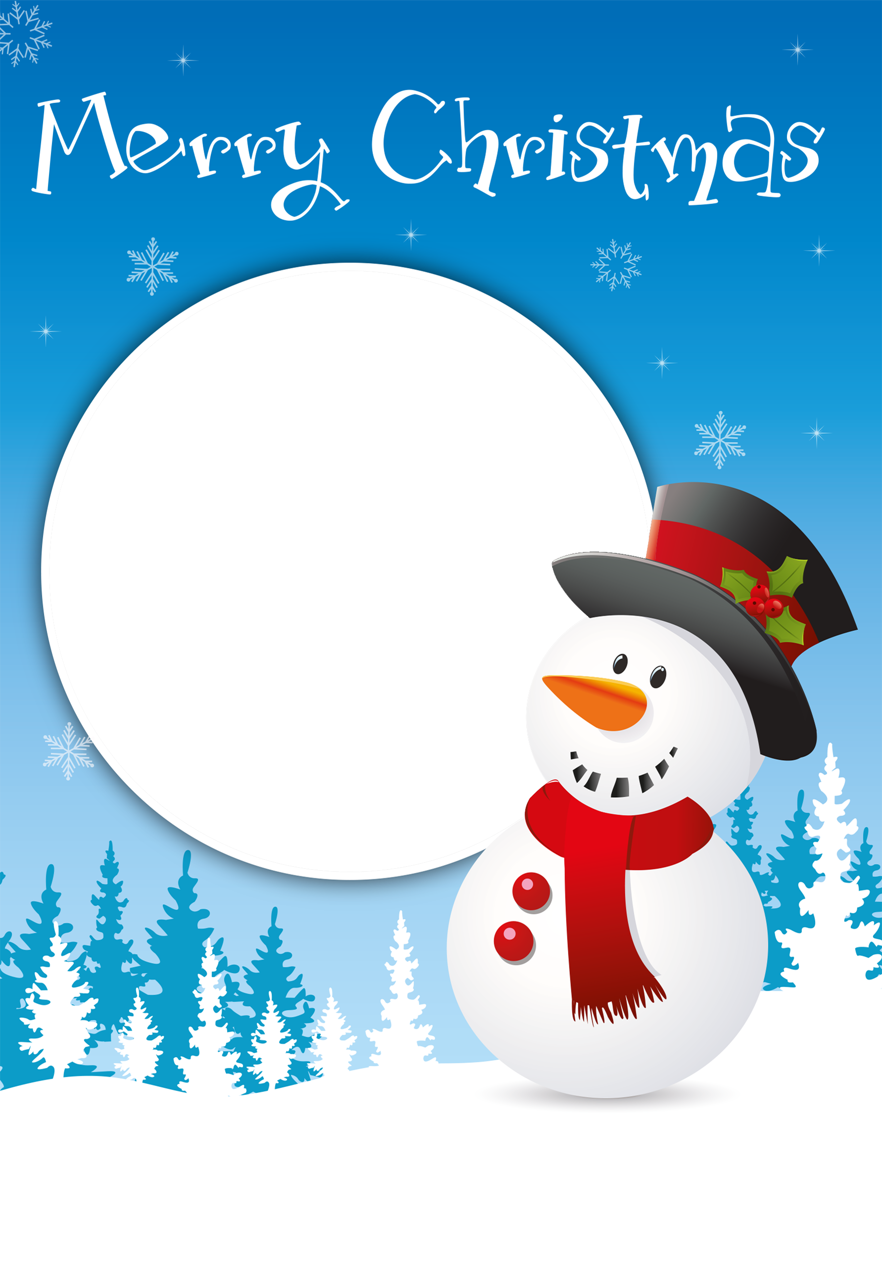 Upload Your Own Image Snowman Christmas Card | A5 in Size