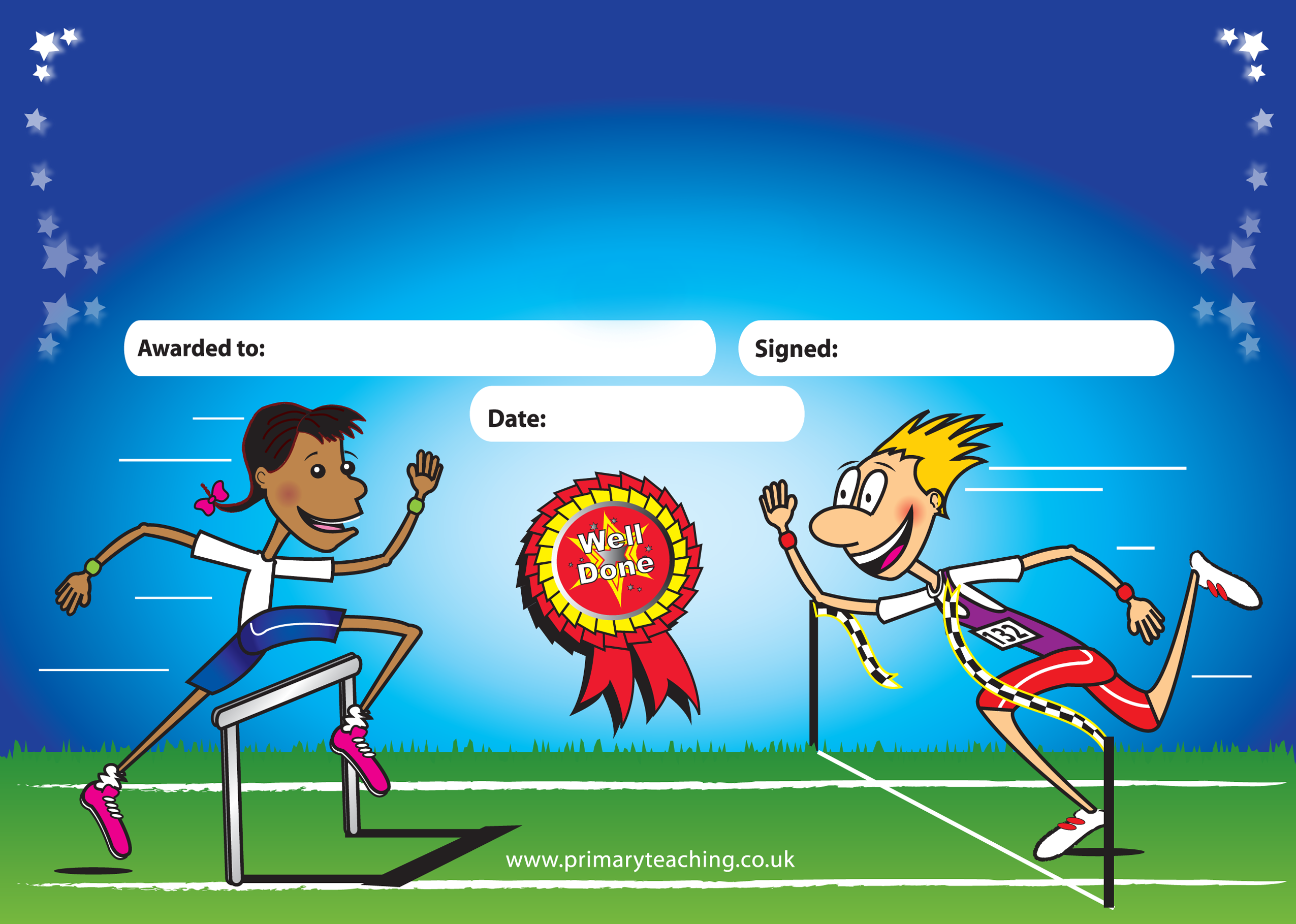A5 personalised certificates with a sports day design a5 personalised sports day certificate psd8 xflitez Gallery