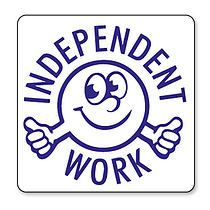 Independent Work Stamper - Blue Ink (25mm)