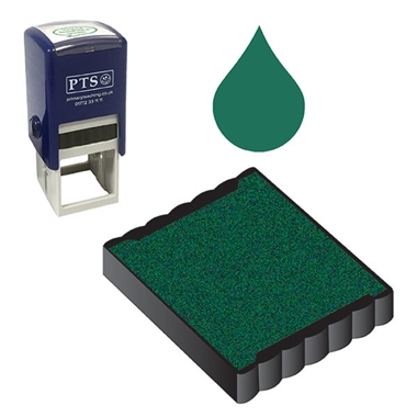 Ink Pad Refill for 25mm Stampers - Green Ink (25mm x 25mm)