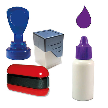 Ink Refill for Pre-Inked Stampers (Purple, 10ml)