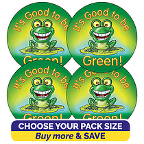 It's Good to be Green Stickers (37mm)
