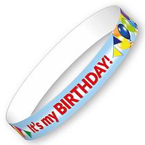 It's my BIRTHDAY! Wristbands (10 Wristbands - 265mm x 18mm)