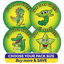 I've Been Green All Week Stickers (37mm)