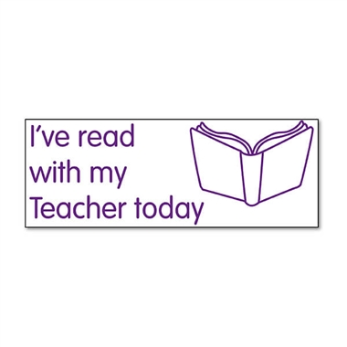 I've Read With My Teacher Today Stamper - Purple Ink (38mm x 15mm)