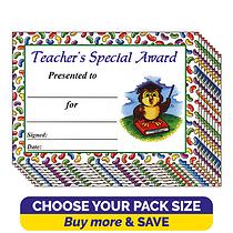 Jellybean Scented Teacher's Special Award Certificates (A5)