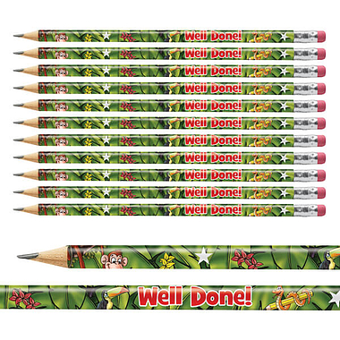 Jungle Scene Metallic Finish Pencils (12 Pencils)