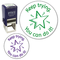 Keep Trying You Can Do It Stamper (25mm)
