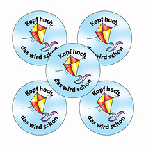 Kite Kopf hoch, das wird schon Stickers (70 Stickers - 25mm)