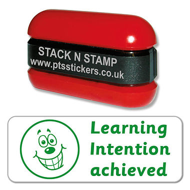 Learning Intention Achieved Stack & Stamp - Green Ink (38mm x 15mm)