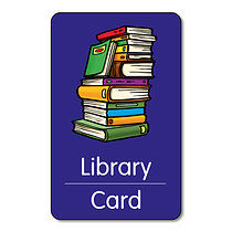 Library Card Books Class Pass - Plastic (10 Wallet Size Cards)