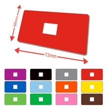 Library Labels - Available in 12 colours (100 labels - 72mm x 38mm)