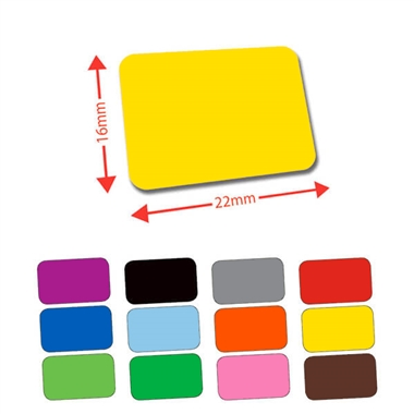 Library Labels - Available in 12 colours (120 labels - 22mm x 16mm)