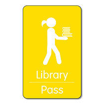 Library Pass -  Class Pass (10 Wallet Size Cards)