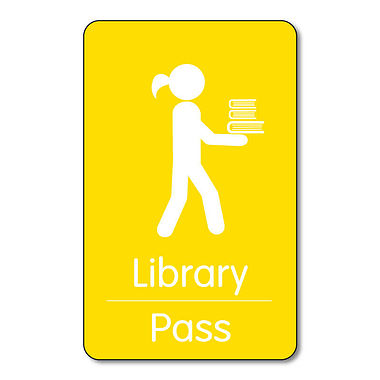 Library Pass - Plastic Class Pass (10 Wallet Size Cards)