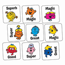 Little Miss Stickers (140 Stickers - 16mm)