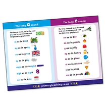 Long 'a' and 'e' Phonics/Sounds Poster (A2 Poster)