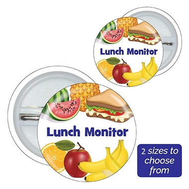 Lunch Monitor Badges (10 Badges)