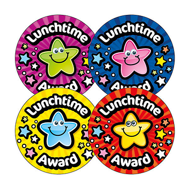Lunchtime Award Stickers (20 Stickers - 32mm) Brainwaves