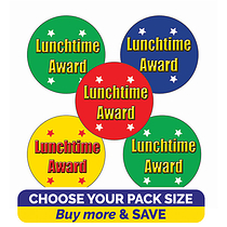 Lunchtime Award Stickers (25mm)