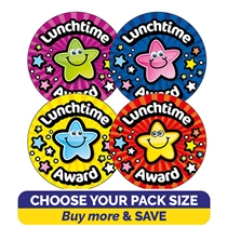 Lunchtime Award Stickers (32mm) Brainwaves