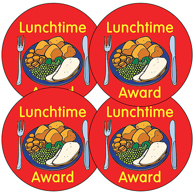 Lunchtime Award Stickers - Roast Dinner (35 Stickers - 37mm)