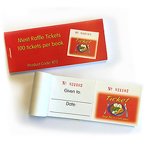 Lunchtime Raffle Tickets - Easy-Tear (100 Tickets per book)