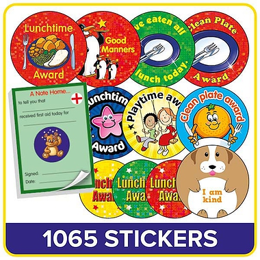 Lunchtime Stickers Value Pack (700 Stickers - 37mm)