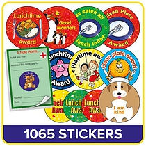 Lunchtime Value Pack (1100 Stickers - Praisepad)