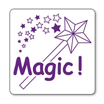 Magic Wand Stamper - Purple Ink (25mm)