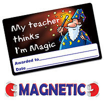 MAGNETIC My Teacher thinks I'm Magic Cards (10 Fridge Magnets)