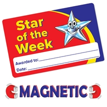 Magnetic Star Of The Week Cards (10 Wallet Sized Cards)